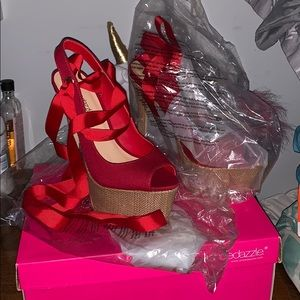 Brand new Shoedazzle ribbon heels!